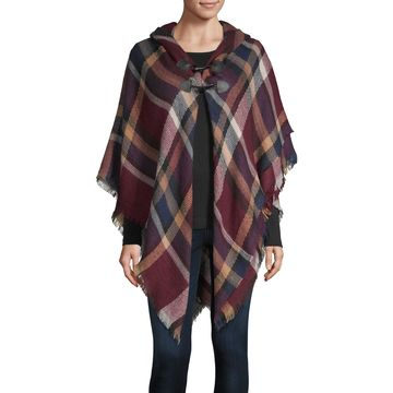 Mixit Plaid Toggle Wrap