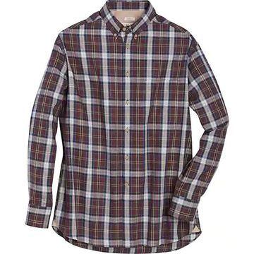 Joseph Abboud Men's Burgundy Red Plaid Classic Fit Sport Shirt - Size: XXL
