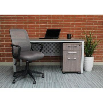 Boss Office Products Transitional Grey Mesh Task Chair