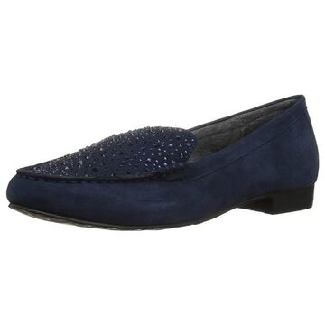 Volatile Womens Comfee Leather Round Toe Loafers