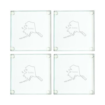 Home State Glass Coasters , Set of 4
