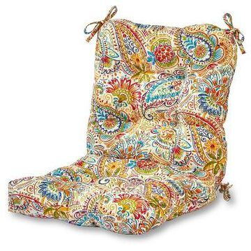 Painted Paisley Outdoor Seat/Back Chair Cushion - Greendale Home Fashions