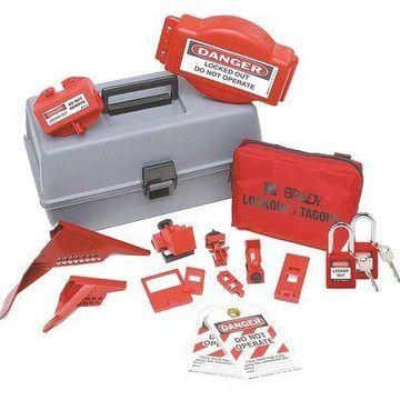 BRADY 99684 Portable Lockout Kit,18,Electrical/Valve