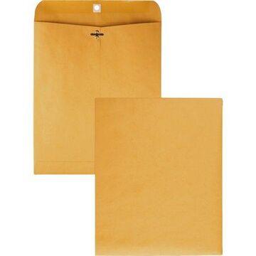 Quality Park Gummed Kraft Clasp Envelopes, Kraft, 100 / Box (Quantity)