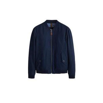 MANGO MAN - Linen cotton bomber jacket dark navy - L - Men