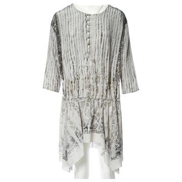 Roberto Cavalli Grey Silk Dresses