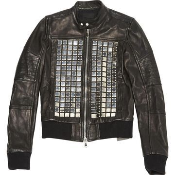 Diesel Black Gold Black Leather Jackets