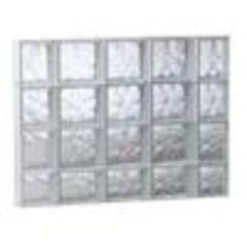 REDI2SET Wavy Glass Pattern Frameless Replacement Glass Clear Block Window (Rough Opening: 35.25-in x 29.5-in; Actual: 34.75-in x 29-in)