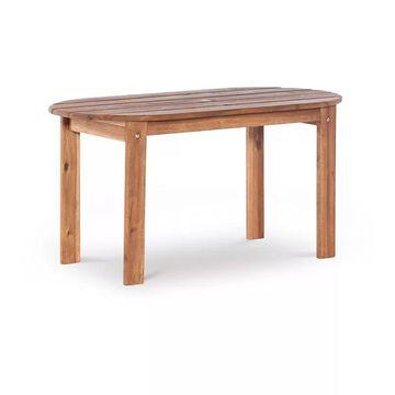 Linon Adirondack Indoor / Outdoor Patio Coffee Table, Brown