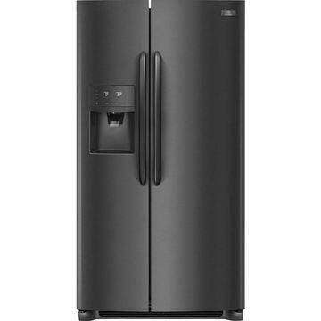 Frigidaire Gallery 22-cu ft Counter-depth Side-by-Side Refrigerator with Ice Maker (Fingerprint-Resistant Black Stainless Steel)