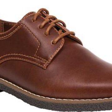 Boys' Deer Stags Zander Plain Toe Oxford Redwood/Dark Brown Simulated Leather 6 M