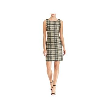 American Living Womens Cocktail Dress Metallic Plaid