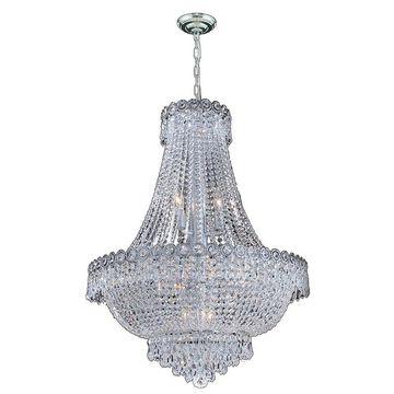Worldwide Lighting Empire 12-Light Polished Chrome Glam Crystal Empire Chandelier