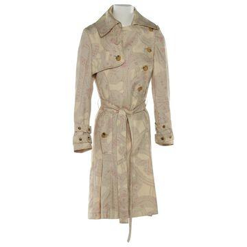 Temperley London \N Ecru Silk Trench coats