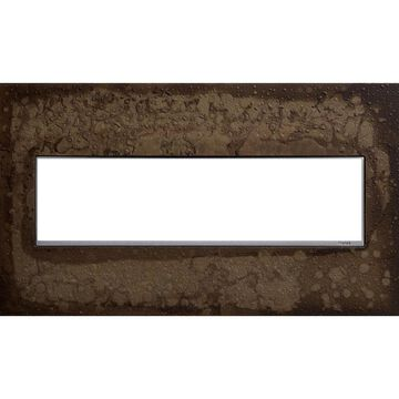 Legrand adorne 4-Gang Hubbardton Forge Dark Smoke Square Screwless Specialty Wall Plate in Bronze | AWM4GHFDS1