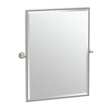 Gatco Tavern 25-Inch x 24.5-Inch Rectangular Framed Mirror in Satin Nickel