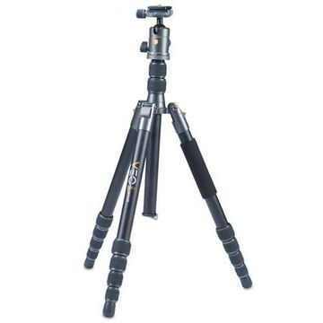 Vanguard VEO 2 GO 265HAB Travel Tripod Kit with 5-Section Aluminum Tripod and T-50 Compact Ball He