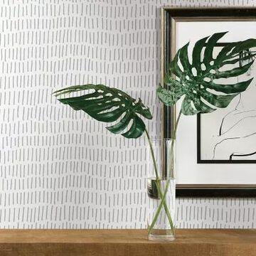 RoomMates Tick Mark Peel & Stick Wallpaper in Grey