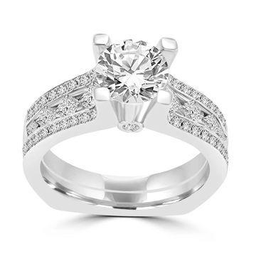 La Vita Vital White Gold 2.00ct TDW Engagement Ring