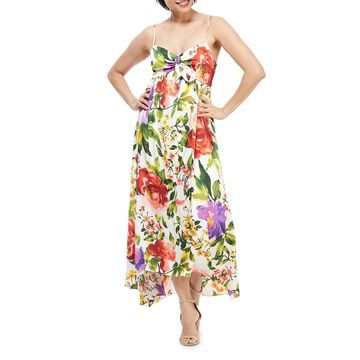 Tie-Front Floral Maxi Dress