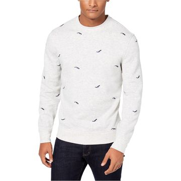Club Room Mens Whale Embroidered Pullover Sweater
