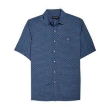 Pronto Uomo Denim Diamond Camp Shirt