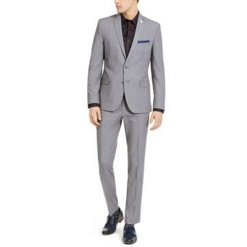 Nick Graham Men's Slim-Fit Stretch Solid Suit