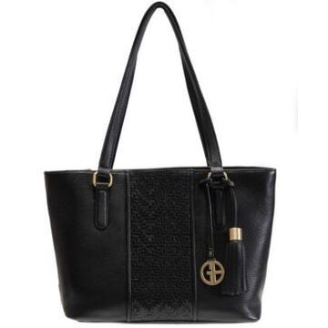 Giani Bernini Pebble Leather Weave Tote, Created for Macy's