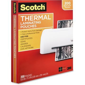 Scotch Front and Back Thermal Laminating Pouches - Letter Size - Laminating Pouch/Sheet Size: 9
