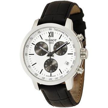 Tissot Men's T0554171603800 'PRC200' Chronograph Black Leather Watch