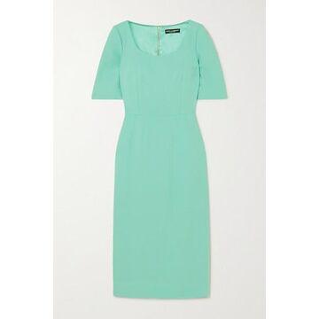 Dolce & Gabbana - Crepe Midi Dress - Turquoise