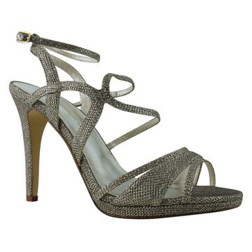 Caparros Womens Topaz Champagne Ankle Strap Heels Size 7.5
