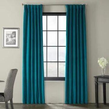Exclusive Fabrics Signature Velvet 108-inch Blackout Curtain Panel (50 X 108 - Everglade Teal)