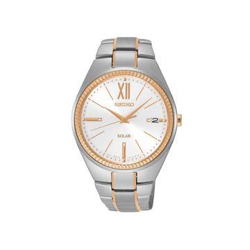 Seiko Womens Two Tone Stainless Steel Bracelet Watch-Sne878
