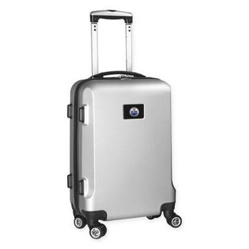 NHL Edmonton Oilers 20-Inch Hardside Carry On Spinner in Silver