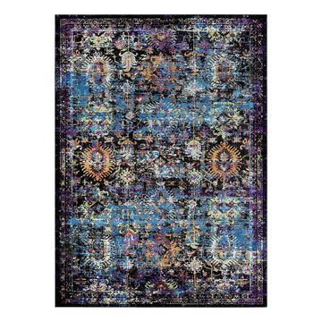 Couristan Gypsy Cologne Framed Floral Rug, Brown, 3.5X5.5 Ft