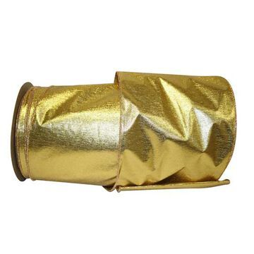 """JAM Paper 25yd. Gold Shimmer Commercial Heavy Wired Ribbon   6"""" x 25yd   Michaels"""