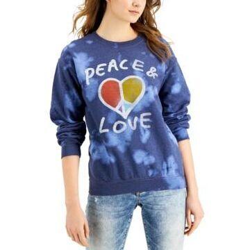 Junk Food Peace & Love Cotton Tie-Dye Sweatshirt