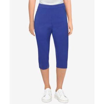 Alfred Dunner Petite Savannah Allure Stretch Slim-Fit Capri Pants
