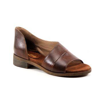 Diba True Women's Sandals COGNAC - Cognac Open-Side Derby City Leather Sandal - Women