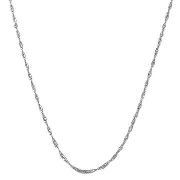Fremada 14k White Gold Singapore Necklace
