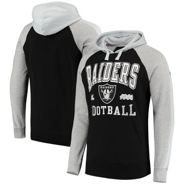 Oakland Raiders Hands High Lifestyle Closer Pullover Hoodie - Black/Gray