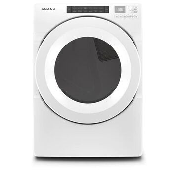 Amana 7.4-cu ft Reversible Side Swing Door Stackable Gas Dryer (White) ENERGY STAR | NGD5800HW