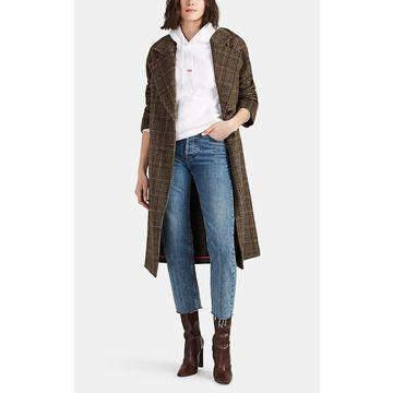 AVEC LES FILLES Plaid Wool-Blend Coat