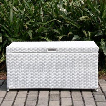 Jeco Inc. Outdoor 70 Gallon Wicker Deck Storage Box