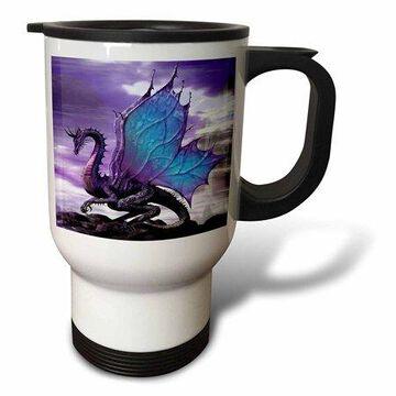 3dRose Fairytale Dragon, Travel Mug, 14oz, Stainless Steel