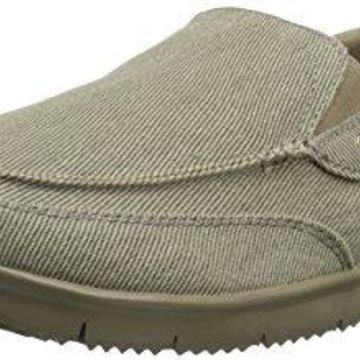 Propet Men's Sawyer Boating Shoe, Tan, 9 M US