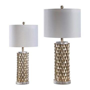 Abbyson Living Set of 2 Esplanade Gold Table Lamps