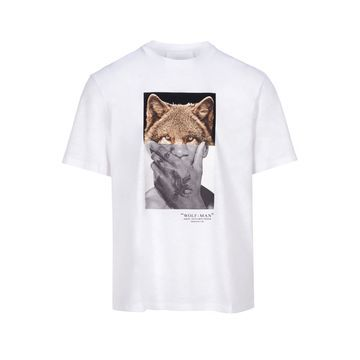 Neil Barrett Wolf-man Print T-shirt