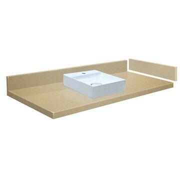 Transolid 34-in Natures Path Quartz Single Sink Bathroom Vanity Top in Brown | VT34X22-1SV-3X-1